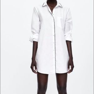 Zara Button-down Shirt Dress